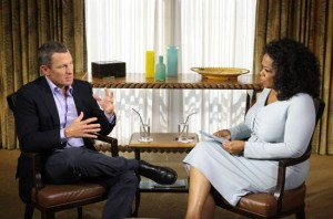 Oprah Winfrey with Lance Armstrong