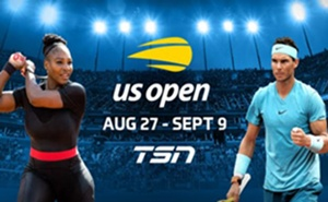TSN Delivers Complete Multi-Court Coverage of the Final Grand Slam of the 2018 Tennis Season – the US OPEN – Beginning August 27