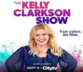 True Colours. No Filter. The Kelly Clarkson Show Premieres Sept. 9 on Citytv