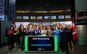 BNN Bloomberg Celebrates Launch by Opening Toronto Stock Exchange